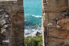 patrzeje denne otwarcie skały Zdjęcie Royalty Free