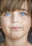 patrzeje niebieskie oko chłopiec obrazy royalty free
