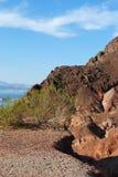 Patrzeje Out Widok jeziora dwójniaka Zdjęcia Stock