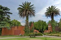 Patrzeje spacer z drzewkami palmowymi fotografia royalty free