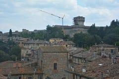 Patrzeje starego miasto Volterra fotografia stock