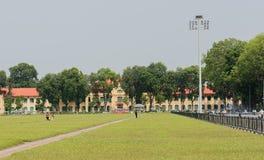 Patrzeje today ` s rządowego budynek w Hanoi, Wietnam obraz stock