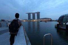 Patrzeje widoku Marina zatoki piaski Singapur Obrazy Stock