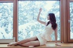 Patrzeje zimę Zdjęcie Royalty Free