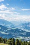Patscherkofel maximum nära Innsbruck, Tyrol, Österrike Fotografering för Bildbyråer