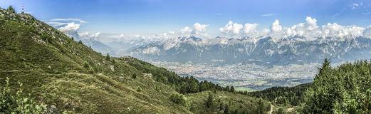 Patscherkofel peak near Innsbruck, Tyrol, Austria. Stock Photos