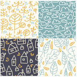 多彩多姿的乐趣无缝的样式 明亮和滑稽的背景 抽象无缝的纹理可以为纺织品和织品使用 Patt 库存图片