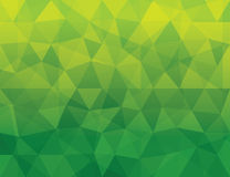 Patt géométrique polygonal vert abstrait de fond Image stock