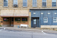 Patt`s Pub. MINERAL POINT, WISCONSIN, USA - SEPTEMBER 22, 2016: The historic main street of this rural mining town, the third oldest in the state, is known for stock images