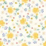 Patt sem emenda floral claro étnico simplificado colorido do bordado ilustração stock