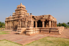 Pattadakal. The ruins ancient hindu temple in Pattadakal near Badami, UNESCO World Heritage Site, Karnataka, India Royalty Free Stock Image