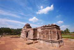 Pattadakal stone temple Royalty Free Stock Images