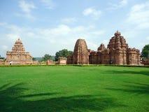 Pattadakallu在卡纳塔克邦,印度状态的一座历史纪念碑  免版税库存照片