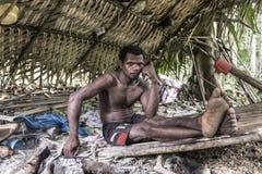PATTALUNG, THAILAND - BRENG 28, 2015 IN DE WAR: Negrito van Thailand T Stock Fotografie