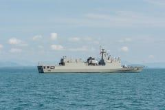 Pattani-Kriegsschiff im Golf von Thailand stockbilder
