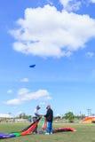 Pattani - 9. März - viele Fantasiedrachen im internationalen Drachen Lizenzfreies Stockfoto