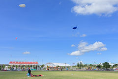 Pattani - 9. März - viele Fantasiedrachen im internationalen Drachen Lizenzfreie Stockfotografie