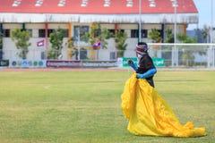 Pattani - 9. März - viele Fantasiedrachen im internationalen Drachen Stockbild