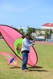 Pattani - 9. März - viele Fantasiedrachen im internationalen Drachen Lizenzfreies Stockbild