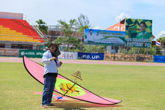 Pattani - 9. März - viele Fantasiedrachen im internationalen Drachen Stockfotografie