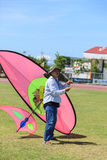 Pattani - MARCH 9- Many Fantasy kites in the International Kite. Festival on May 30, 2014 in Rainbow Stadium, Pattani, Thailand Royalty Free Stock Image