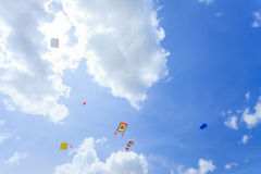 Pattani - MARCH 9- Many Fantasy kites in the International Kite. Festival on May 30, 2014 in Rainbow Stadium, Pattani, Thailand Royalty Free Stock Photos