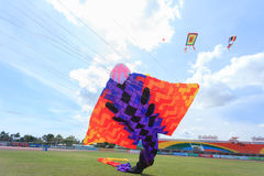 Pattani - MARCH 9- Many Fantasy kites in the International Kite. Festival on May 30, 2014 in Rainbow Stadium, Pattani, Thailand Stock Image