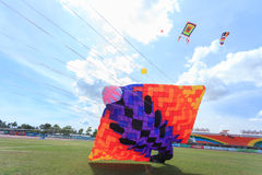 Pattani - MARCH 9- Many Fantasy kites in the International Kite. Festival on May 30, 2014 in Rainbow Stadium, Pattani, Thailand Stock Images