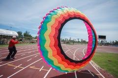 Pattani - MARCH 9- Many Fantasy kites in the International Kite Stock Photography