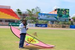 Pattani - 9 mars - beaucoup de cerfs-volants d'imagination dans le cerf-volant international Photographie stock