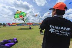 Pattani - 9 mars - beaucoup de cerfs-volants d'imagination dans le cerf-volant international images libres de droits