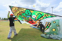 Pattani - 9 mars - beaucoup de cerfs-volants d'imagination dans le cerf-volant international photo stock