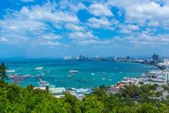 Pattay stad Arkivbild