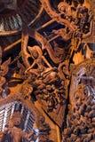 pattaya圣所雕塑木thaila的真相 免版税库存照片
