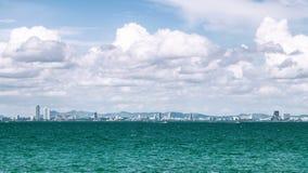Pattaya市scape泰国 库存图片