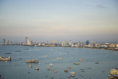 Pattaya, άποψη από το ύψος της πτήσης του πουλιού Στοκ εικόνα με δικαίωμα ελεύθερης χρήσης
