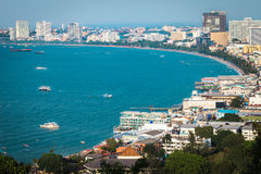 Pattaya. Top view of pattaya beach, Thailand Royalty Free Stock Photos