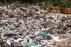 PATTAYA ,AUGUST 30 : Garbage pond in Koh Larn island in Pattaya,Thailand in Pattaya City on August 30,2015, Koh Larn island is th stock photography