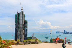 The new building site in PATTAYA Stock Photography