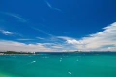 Pattaya , Balihy foreland andLan Island. Bird eye view, Thailand Royalty Free Stock Photo
