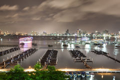 Pattaya bay and beach in thailand Stock Photography