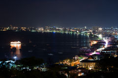 Pattaya Bay by Night Royalty Free Stock Images
