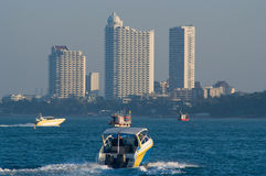 Pattaya Bay in Thailand royalty free stock images