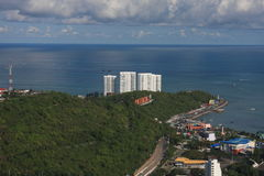 Pattaya bay. View of Pattaya city, Thailand Stock Image