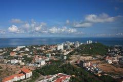 Pattaya bay. View of Pattaya city, Thailand Royalty Free Stock Photo