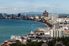 Pattaya beach and city Royalty Free Stock Images