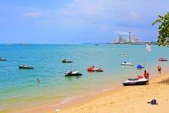 Pattaya Beach And City Skyline, Pattaya, Thailand Royalty Free Stock Photo