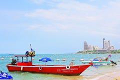 Pattaya Beach And City Skyline, Pattaya, Thailand Stock Images