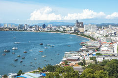 Pattaya beach and cityscape at Chonburi Stock Photography