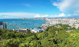 Pattaya beach and cityscape at Chonburi Royalty Free Stock Images